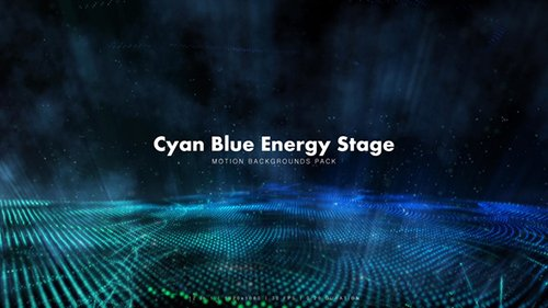 Cyan Blue Energy Stage Pack 12341922