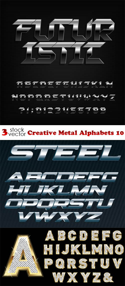 Vectors - Creative Metal Alphabets 10