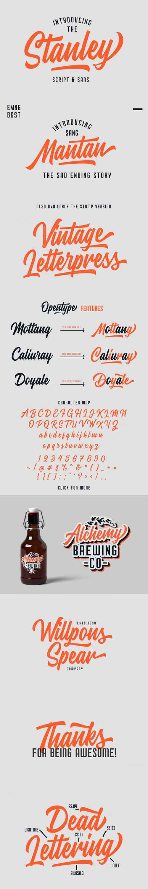CreativeMarket - Stanley Font Duo Font Family