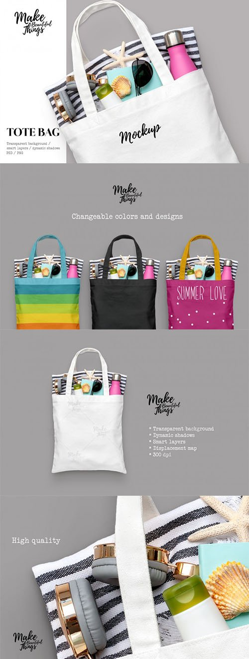 Graphicriver - Isolated tote bag mockup 21749061