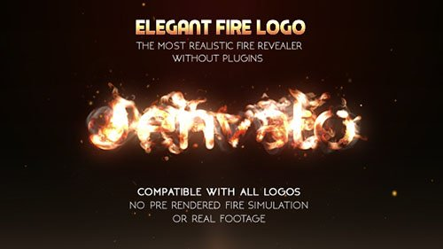 Elegant Fire Logo (No Plugin) - Project for After Effects (Videohive)