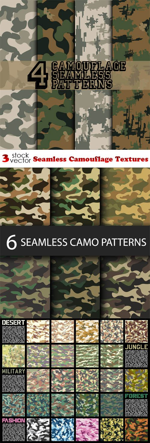 Vectors - Seamless Camouflage Textures