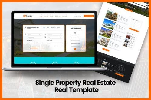 Homza - Single Property Real Estate Real Template