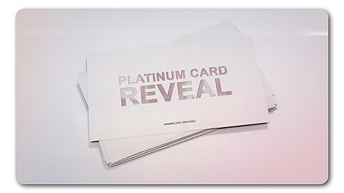 Platinum Card Reveal - Project for After Effects (Videohive)