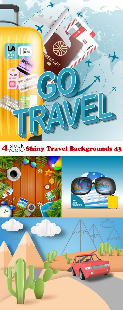 Vectors - Shiny Travel Backgrounds 43