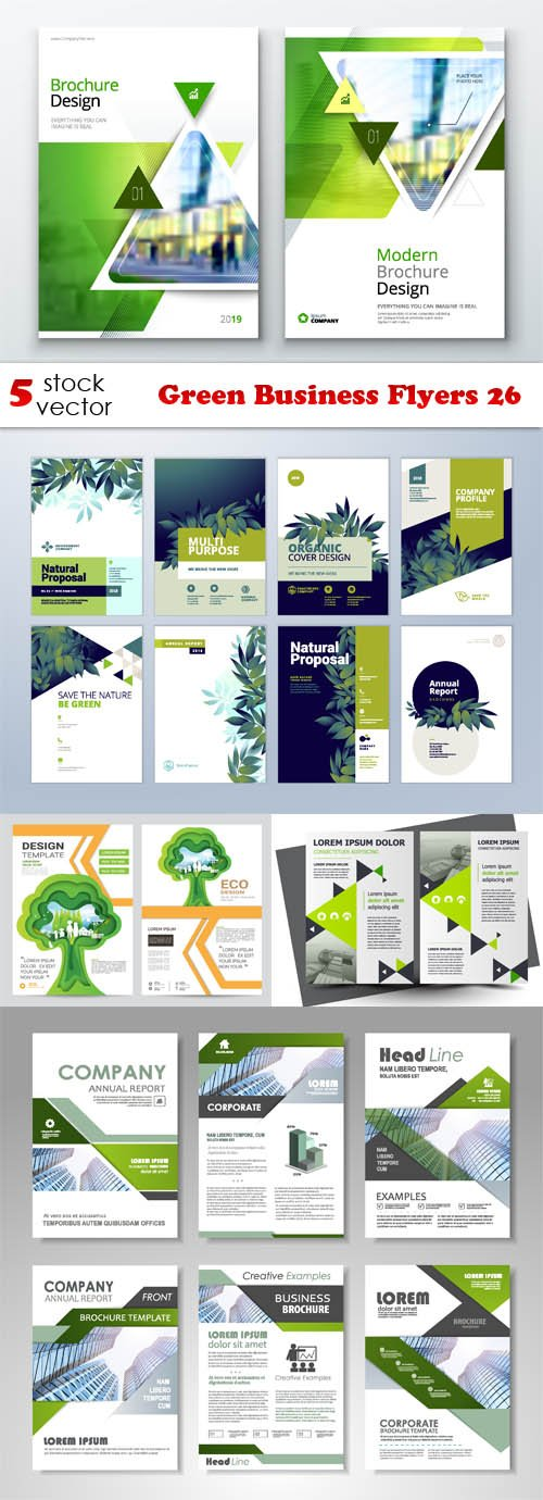 Vectors - Green Business Flyers 26