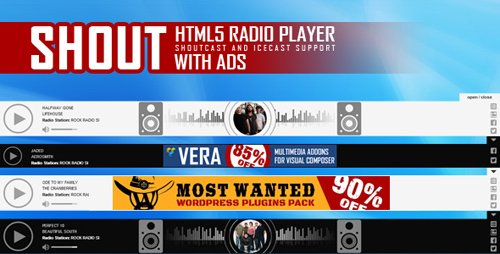 CodeCanyon - SHOUT v1.2.3 - HTML5 Radio Player With Ads - 20522568