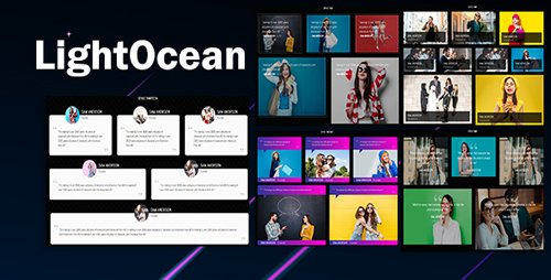 CodeCanyon - LightOcean v1.0 - Testimonial Cards Showcase HTML5 - 22008963
