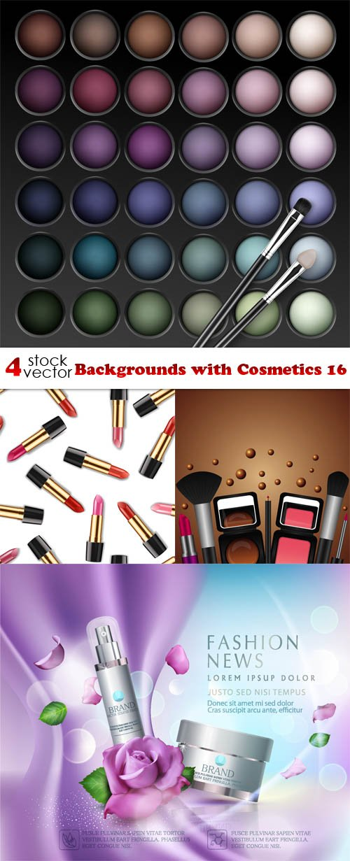 Vectors - Backgrounds with Cosmetics 16