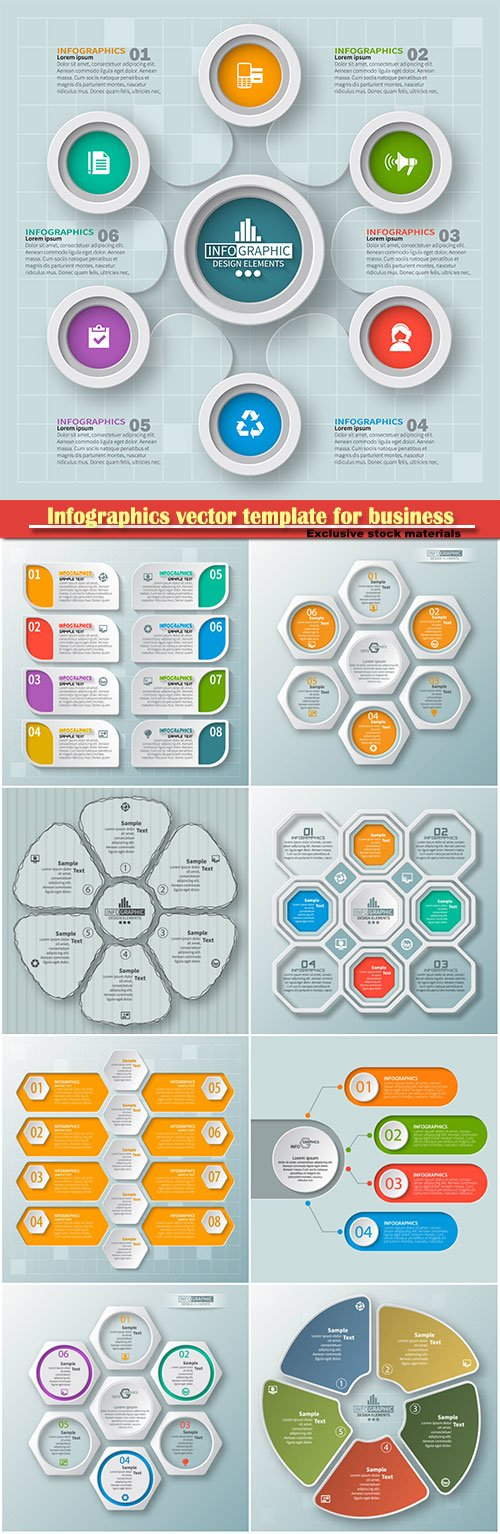 Infographics vector template for business presentations or information banner # 75