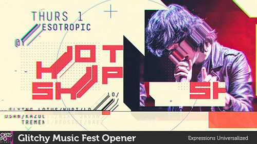 Glitchy Music Fest Opener - Project for After Effects (Videohive)