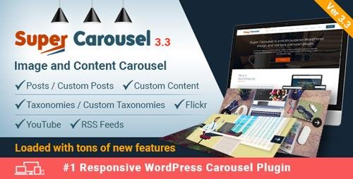 CodeCanyon - Super Carousel v3.3 - Responsive Wordpress Plugin - 4505016