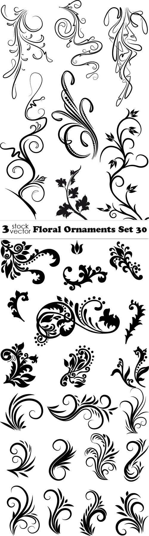 Vectors - Floral Ornaments Set 30