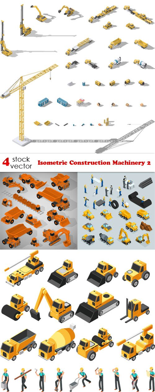 Vectors - Isometric Construction Machinery 2
