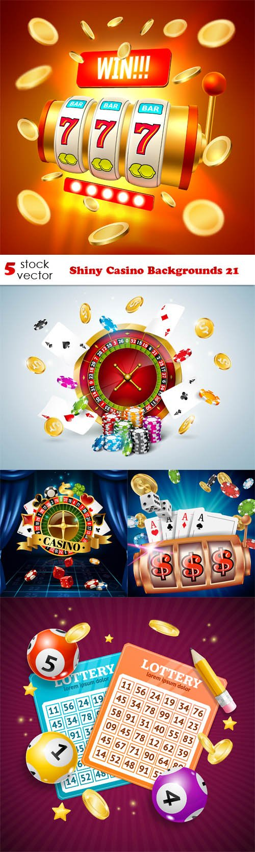 Vectors - Shiny Casino Backgrounds 21