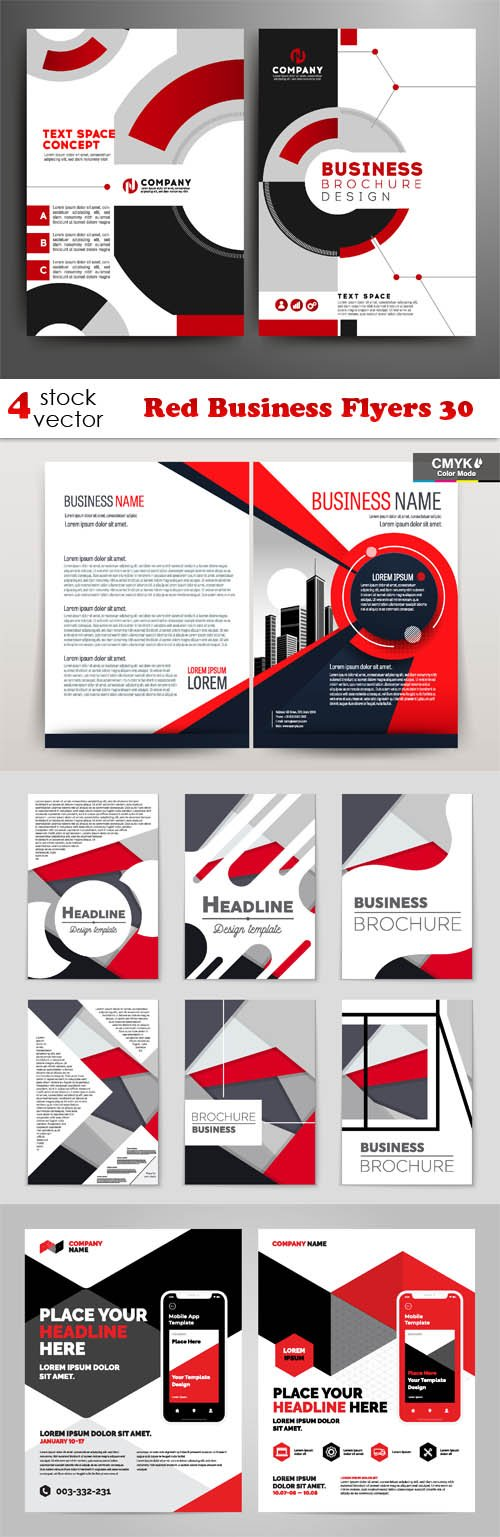 Vectors - Red Business Flyers 30