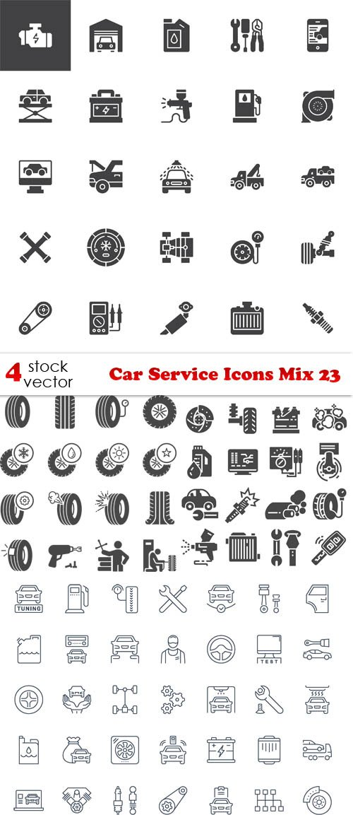 Vectors - Car Service Icons Mix 23