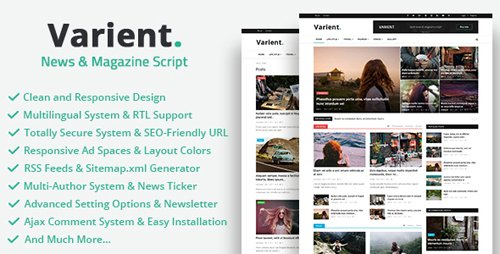 CodeCanyon - Varient v1.4.1 - News & Magazine Script - 21035226 - NULLED