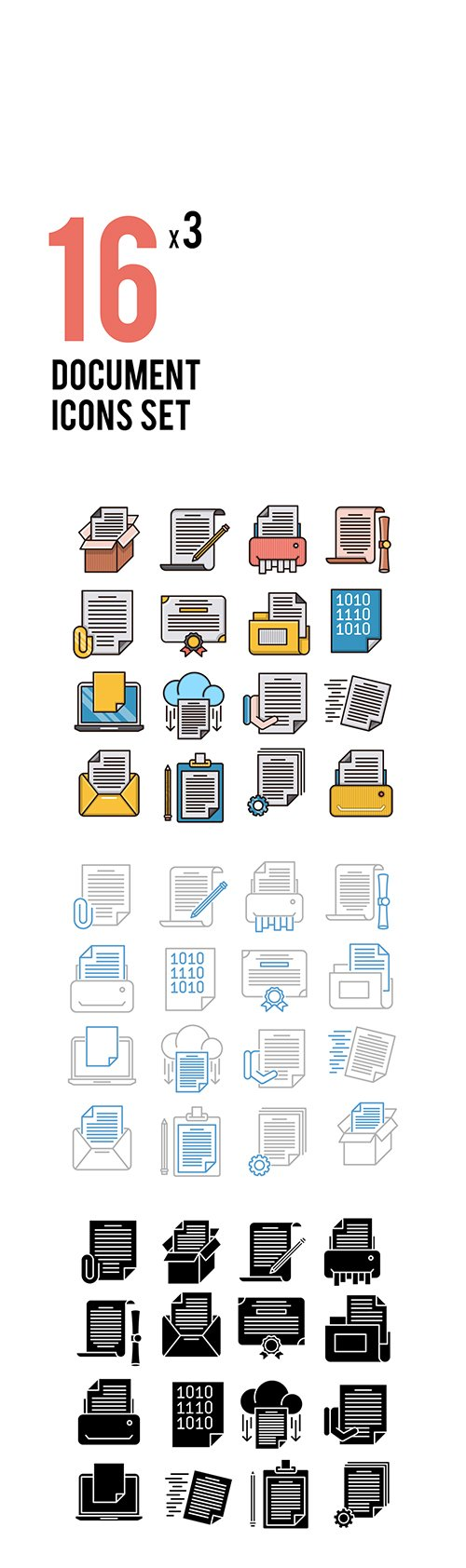 Document Vector Icons