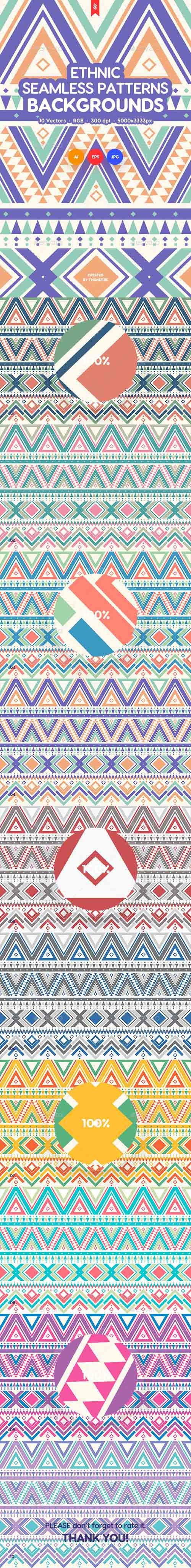 GR - Ethnic Ornamental Seamless Patterns / Backgrounds 21871646