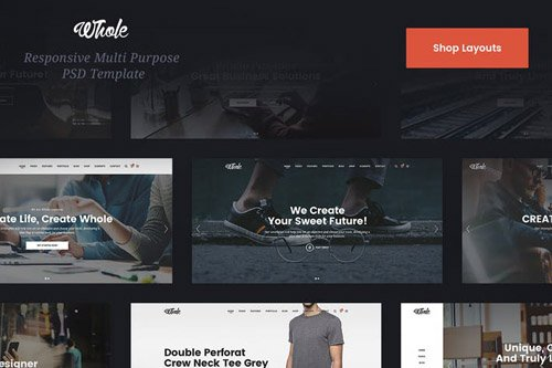 Whole Shop & Ecommerce PSD Template