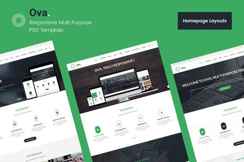 Ova - Multi-purpose Business PSD Template
