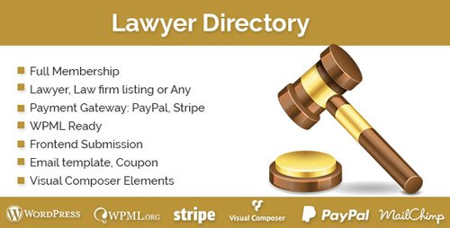 CodeCanyon - Lawyer Directory v1.2.0 - WordPress Plugin - 19452000