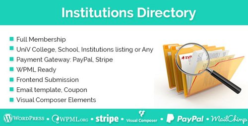 CodeCanyon - Institutions Directory v1.1.8 - WordPress Plugin - 19404510