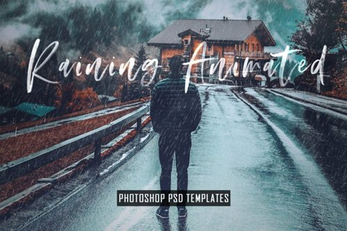 Animated Raining Effects - Photoshop PSD Templates & Actions