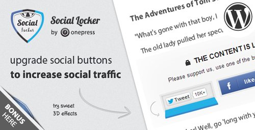 CodeCanyon - Social Locker for Wordpress v5.2.5 - 3667715
