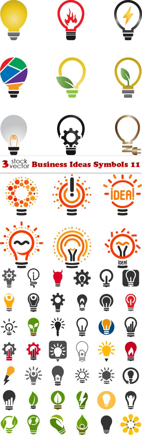 Vectors - Business Ideas Symbols 11