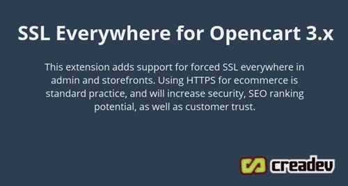 Opencart 3 Force SSL Everywhere - Full Site HTTPS v1.2.0