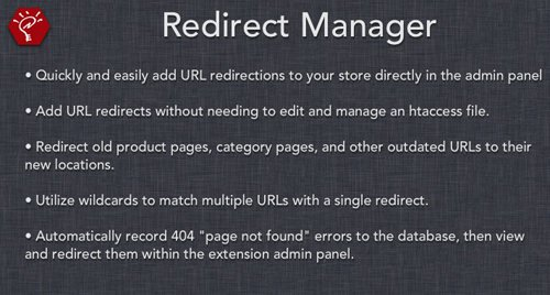 (2.x/3.x) Redirect Manager v300.1 - OpenCart Extension