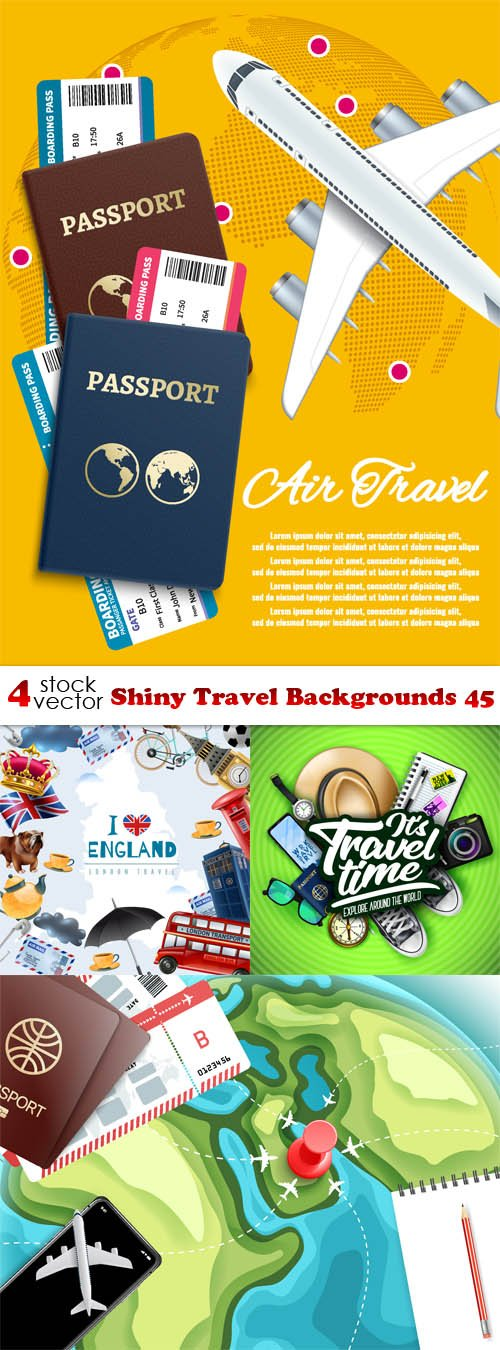 Vectors - Shiny Travel Backgrounds 44