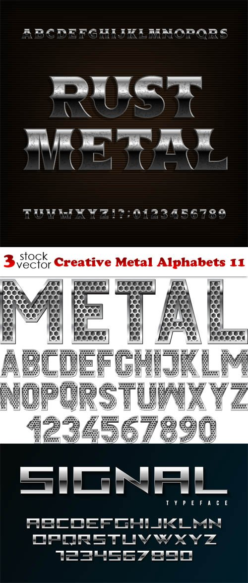 Vectors - Creative Metal Alphabets 11