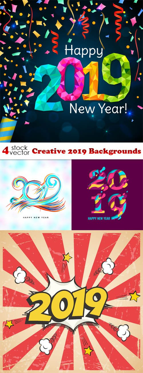 Vectors - Creative 2019 Backgrounds