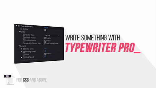 Typewriter Pro - After Effects Presets (Videohive)
