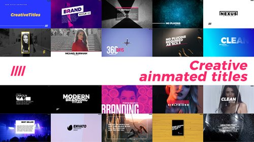 Creative Animated Titles - Project for After Effects (Videohive)