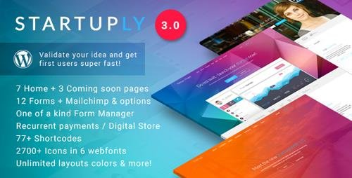 ThemeForest - Startuply v3.0.10 - Multi-Purpose Startup Theme - 9055667