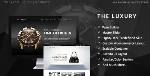 ThemeForest - The Luxury v1.10 - Dark/Light Responsive WordPress Theme - 9210438