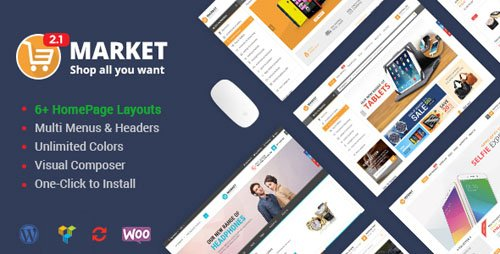 ThemeForest - Market v2.3.1 - Shopping WooCommerce WordPress Theme - 9514470
