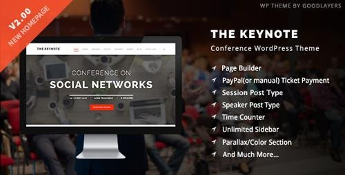 ThemeForest - The Keynote v2.10 - Conference / Event / Meeting WordPress Theme - 9718856