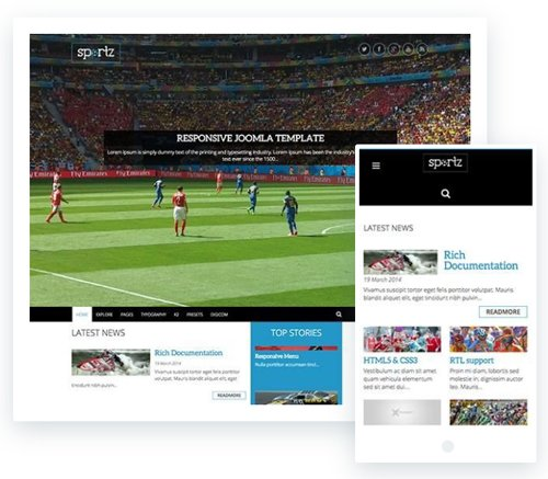 ThemeXpert - Sportz v1.1 - Responsive Joomla Template For News & Magazine