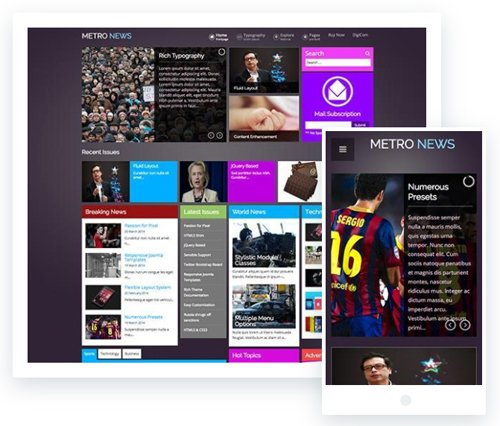 ThemeXpert - Metronews v1.2 - Responsive Joomla Template For News & Magazine