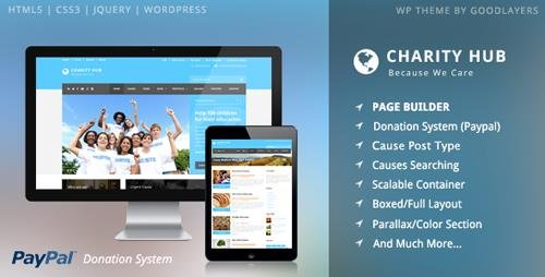 ThemeForest - Charity Hub v1.21 - Charity / Nonprofit / Fundraising WP - 7481543