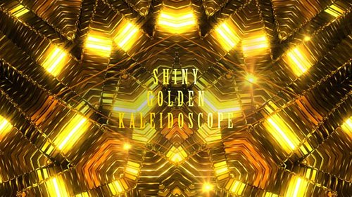 Shiny Golden Kaleidoscope 20815810
