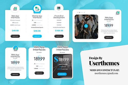 PSD Business Pricing Table UI Template PSD