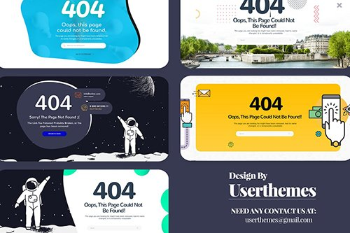 PSD Ultimate Creative 404 Pages Website Template