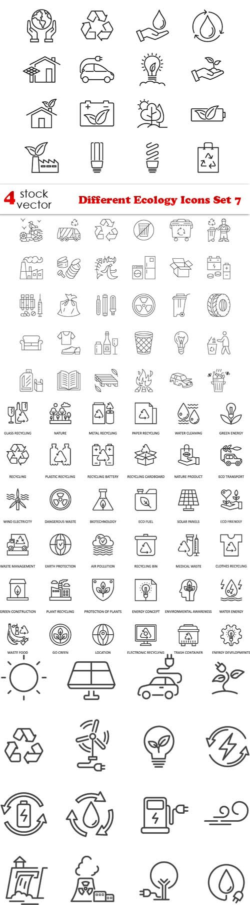 Vectors - Different Ecology Icons Set 7