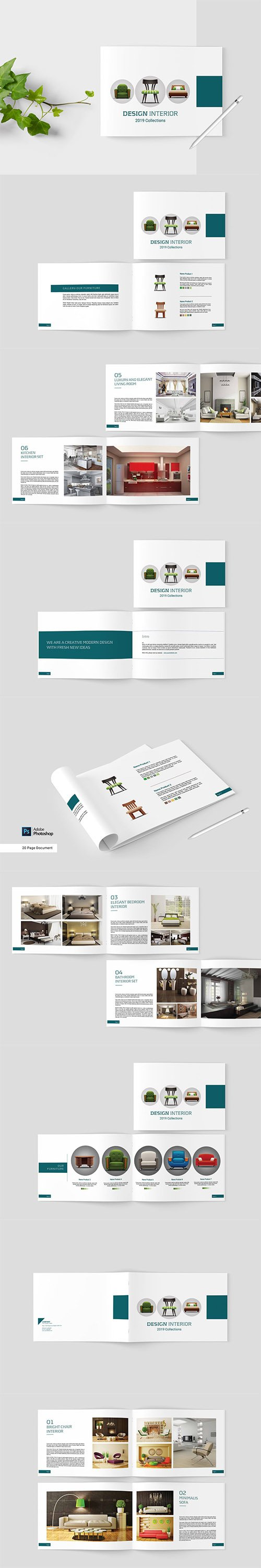 Simple Interior Brochure PSD